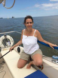 Lori on Wisconsin sailboat
