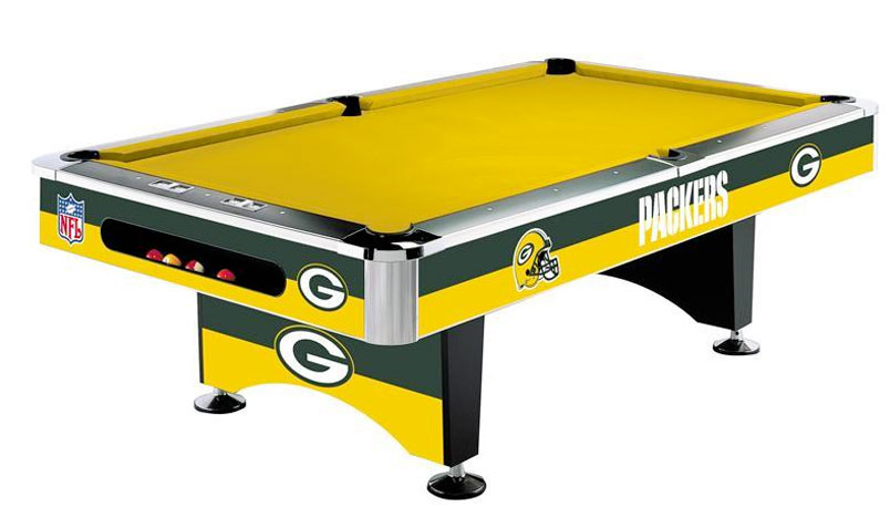 packers pool table