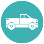deer hunting truck icon