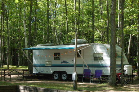 rv camping site in wisconsin