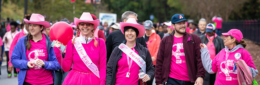 making strides women in pink