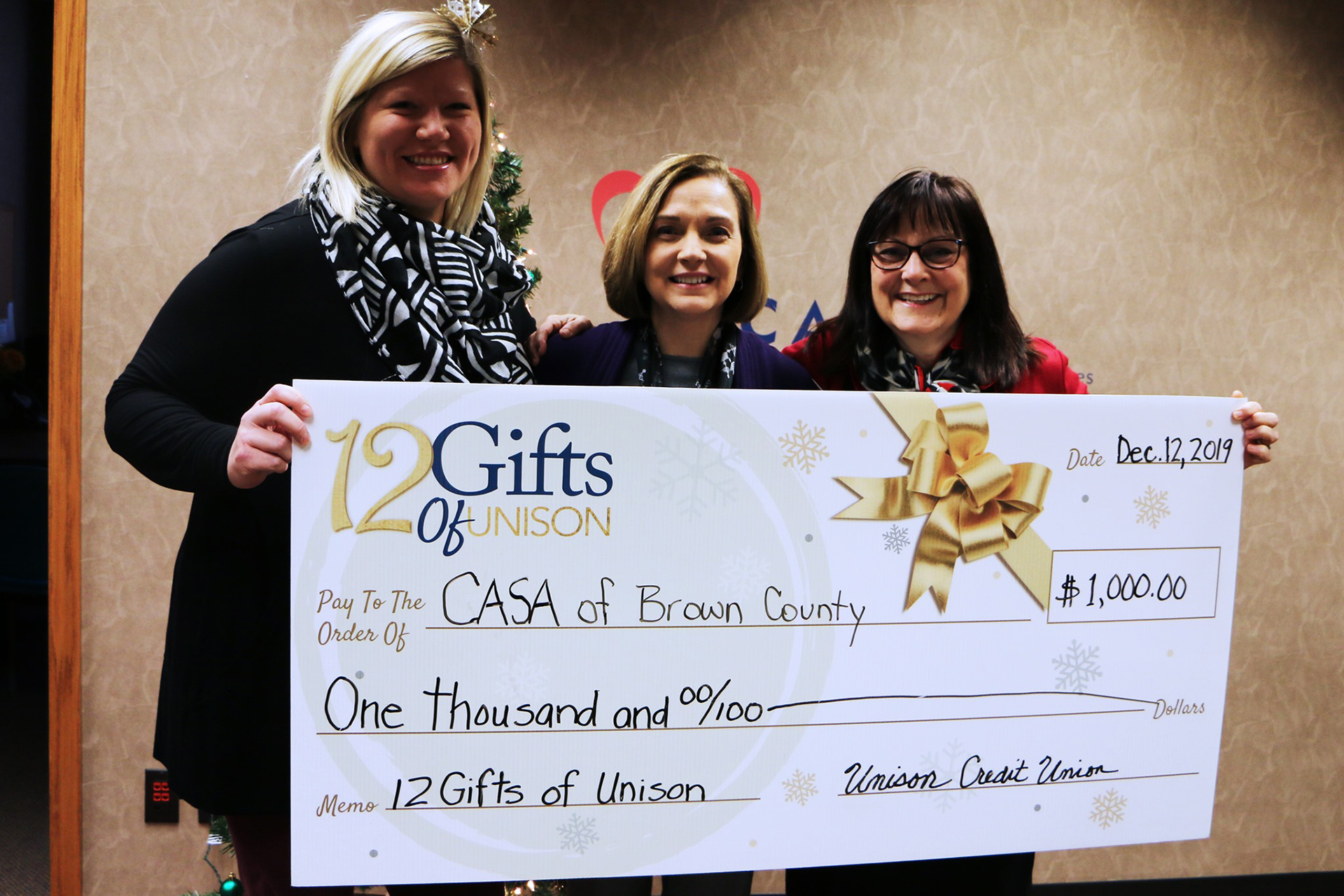 casa getting donation from unison