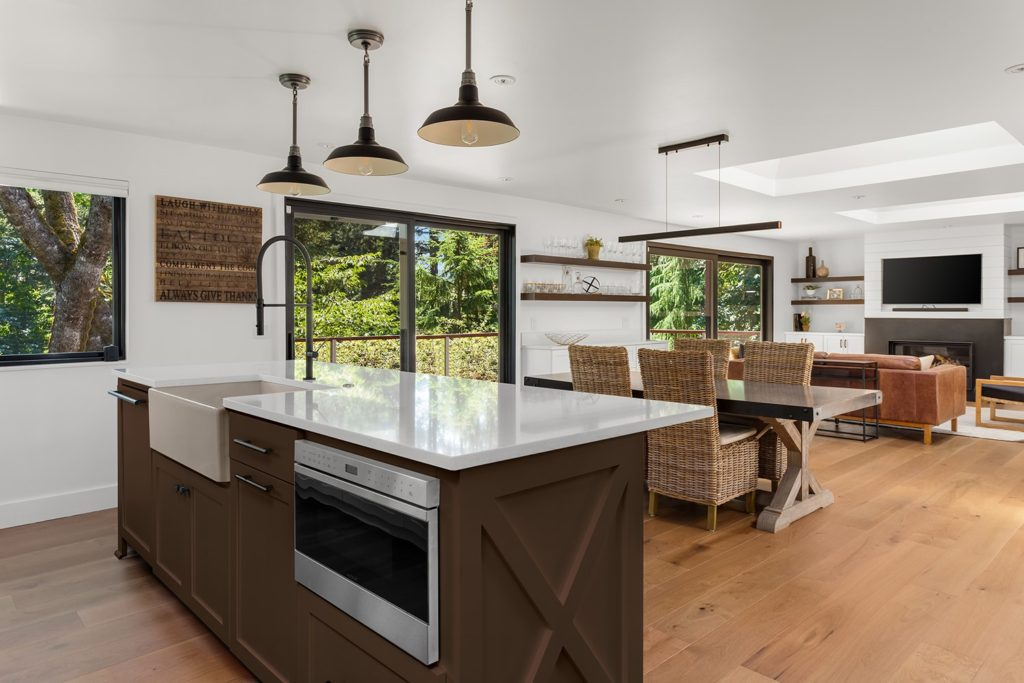 Kitchen with open concept