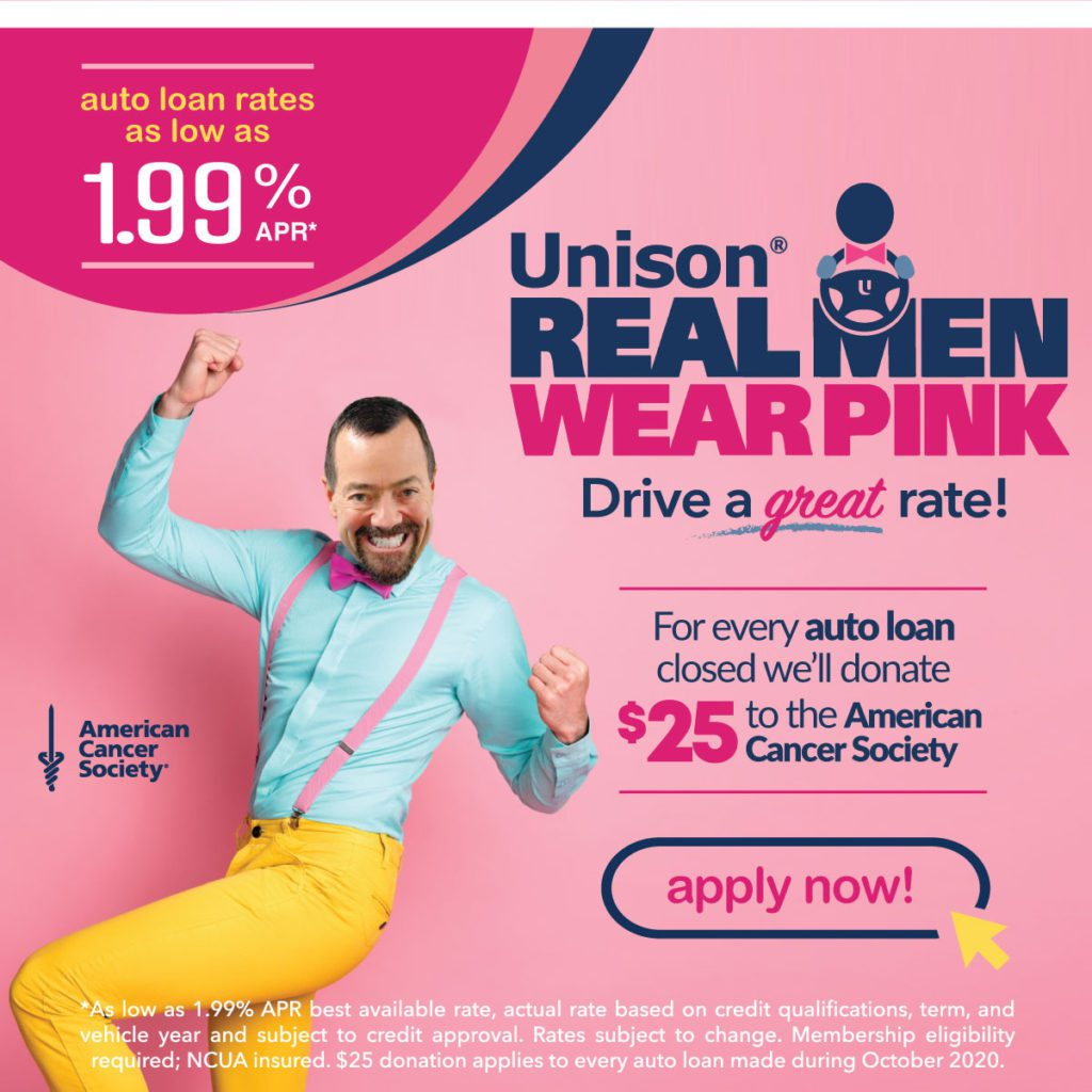 Real men wear pink auto ad